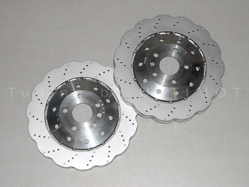 perforated sports brake discs wave design audi rs q3 rsq3 front 365 x 34 mm ebay. Black Bedroom Furniture Sets. Home Design Ideas